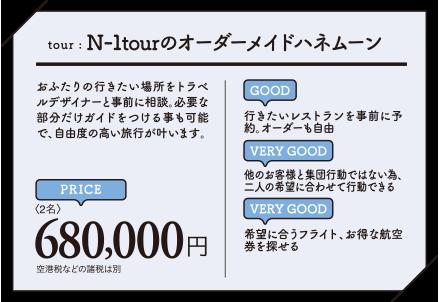 N-1tourのオーダーメイドハネムーン