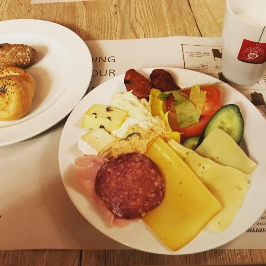 チェコでの朝ごはん