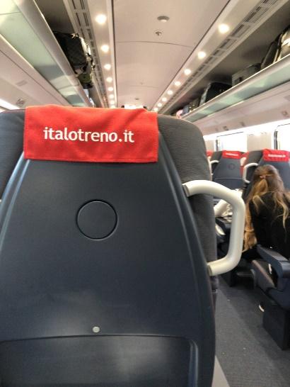 Italoに乗車